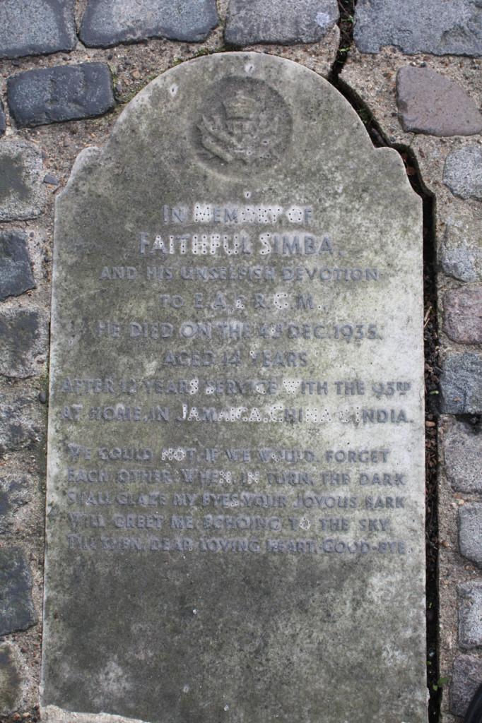 Simba's memorial in 2013