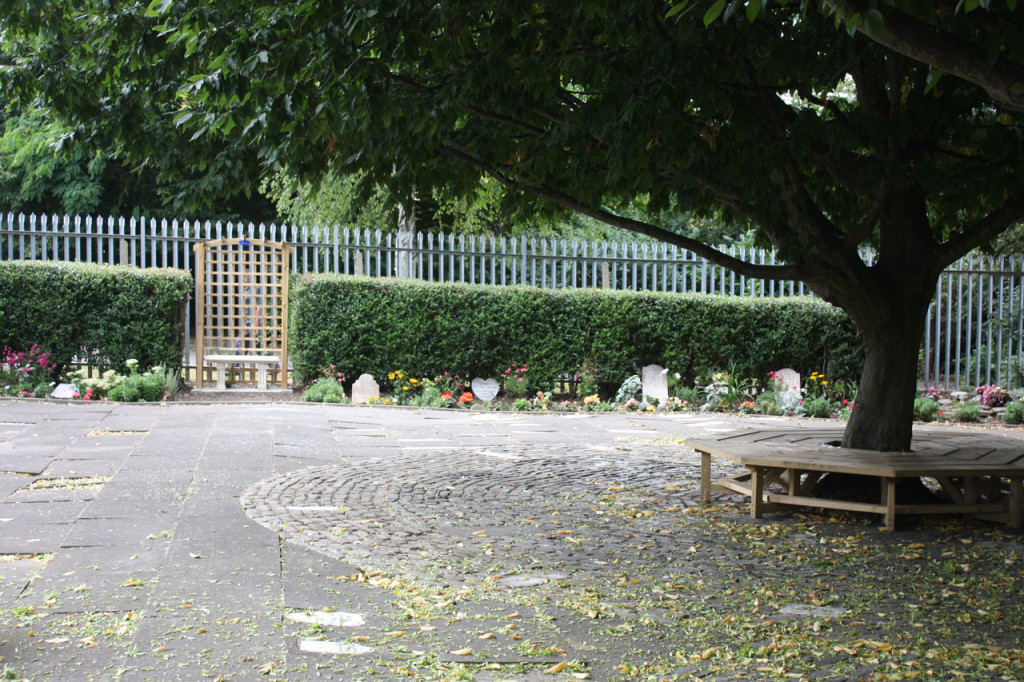 New decorative arch and stone bench at the Pet Cemetery Charlton
