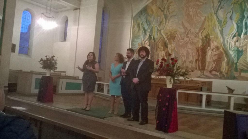 Sally Silver, Donna Bateman, Ricardo Panela and Dominic Natoli at Woolwich Opera Works' Spanish Siesta