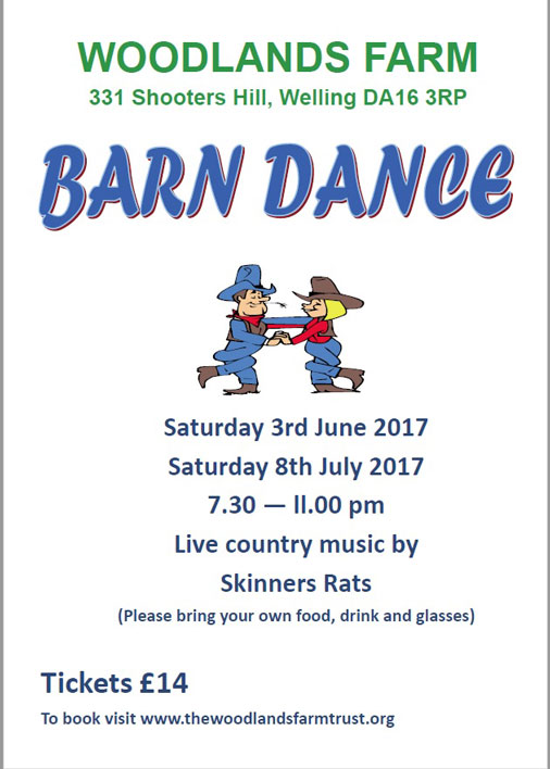 Woodlands Farm Barn Dances Poster 2017