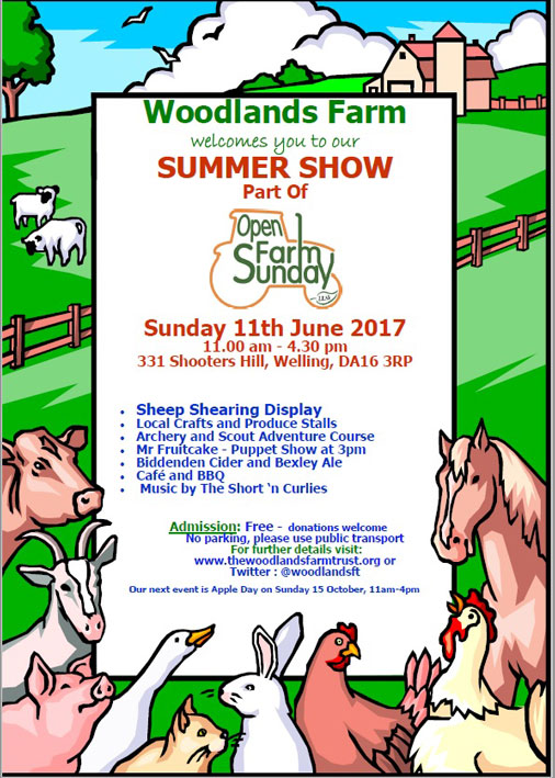 Woodlands Farm Summer Show 2017 poster