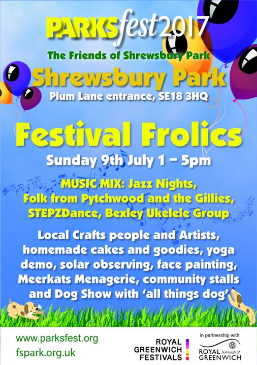 Shrewsbury Park festival leaflet