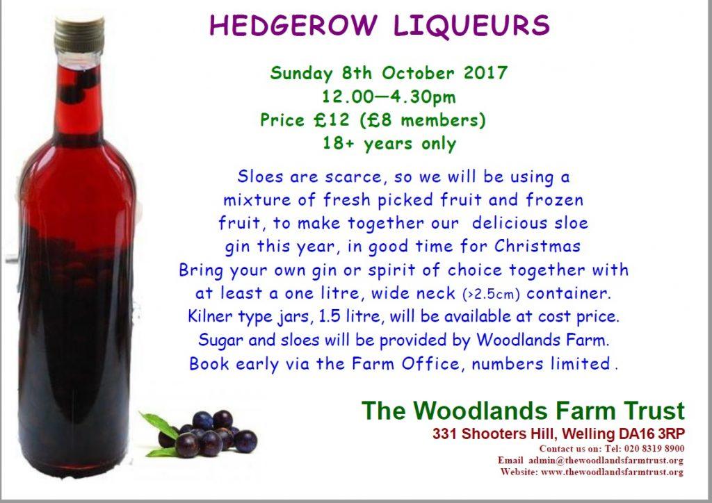 Hedgerow liqueurs 2017 poster