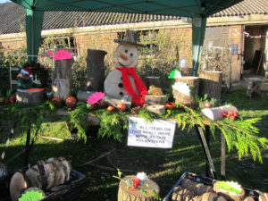 Christmas gifts made by farm volunteers
