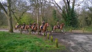 Horse riders on Eltham Common