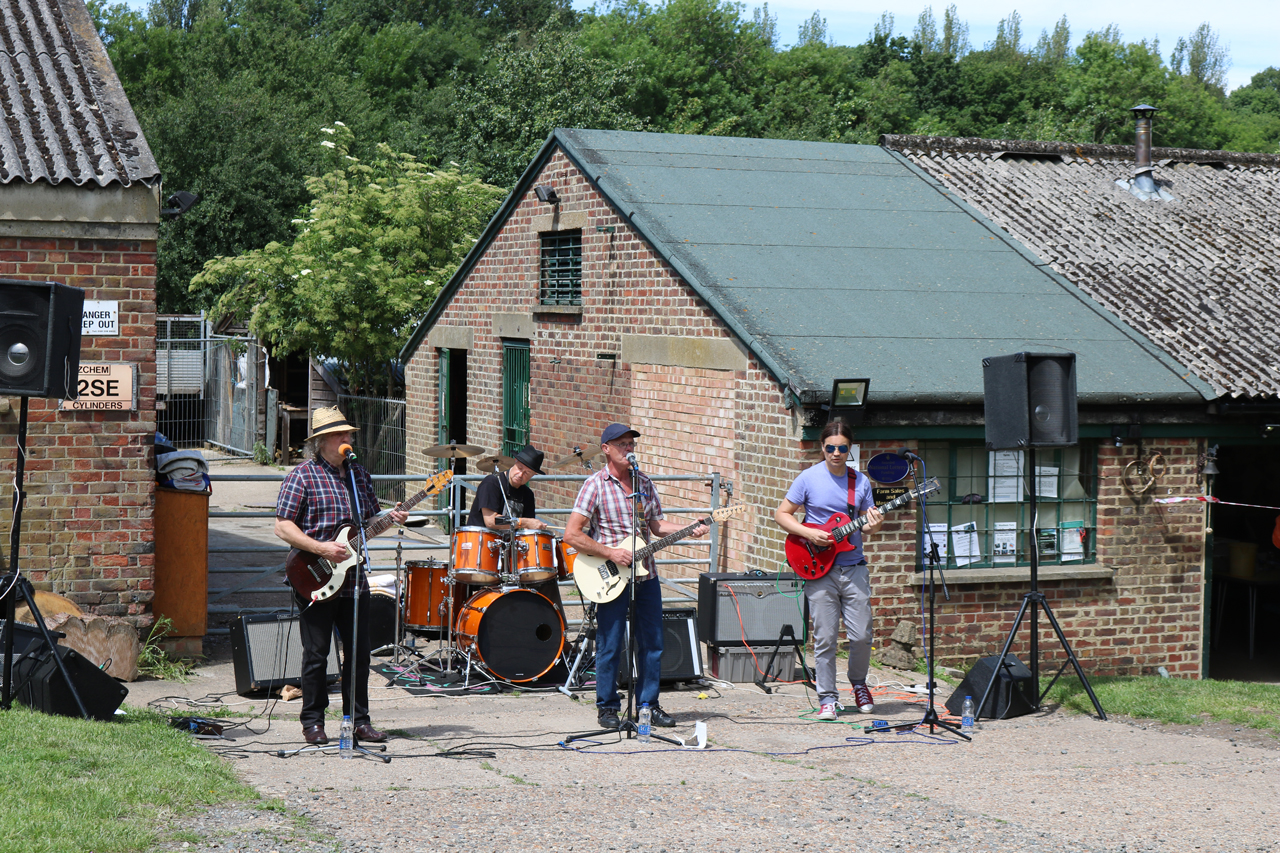 The band at Woodlands Farm's 2017 Summer Show