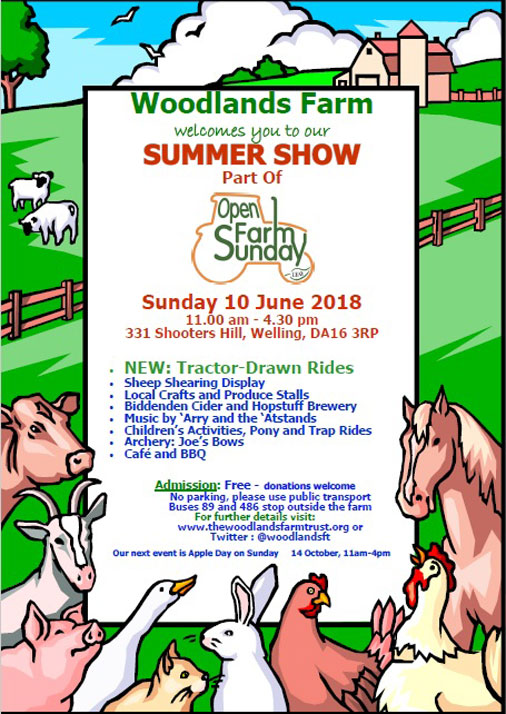 Woodlands Farm Summer Show 2018 poster