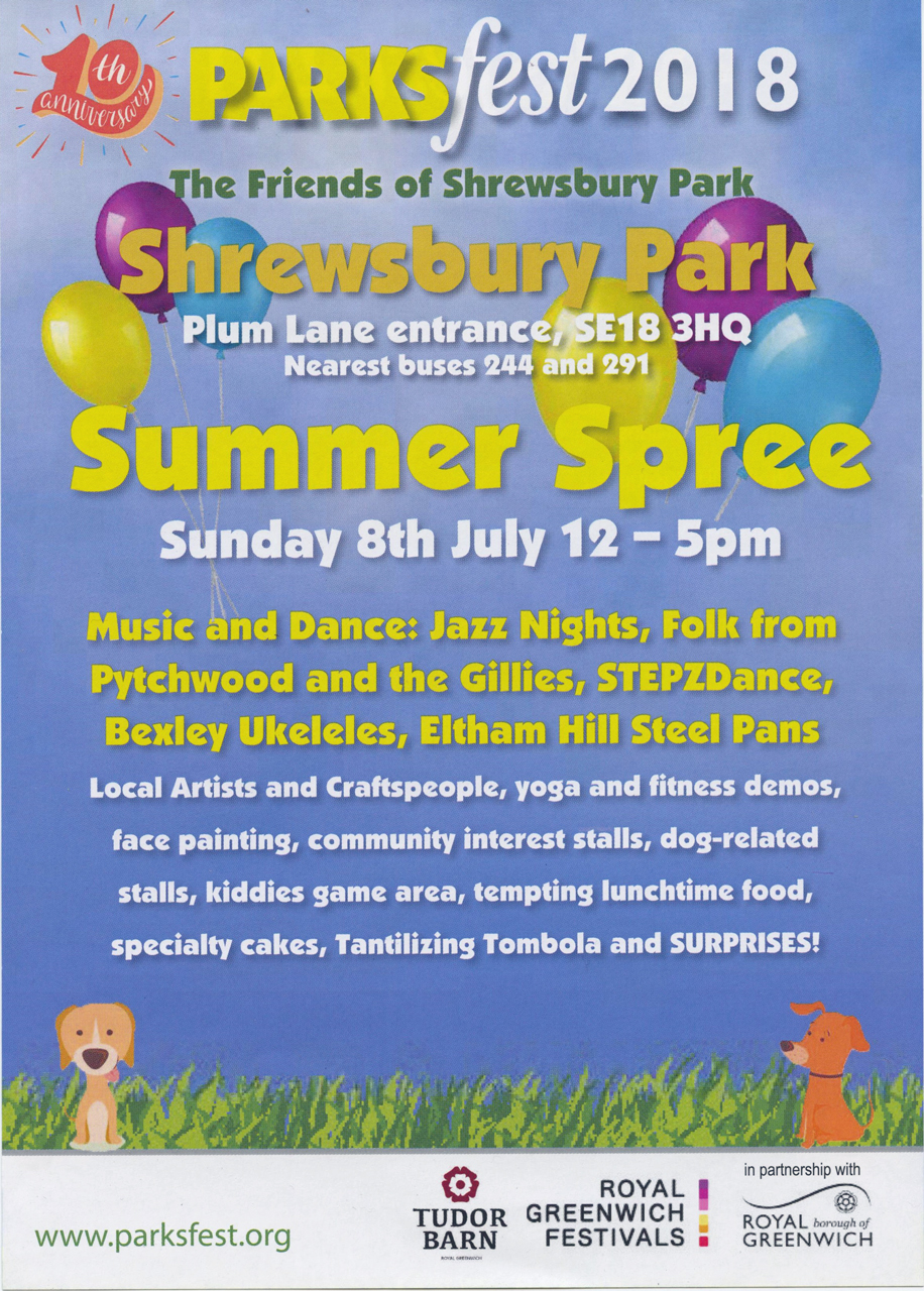 Shrewsbury Park Summer Spree leaflet