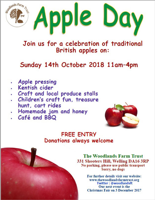Woodlands Farm Apple Day poster
