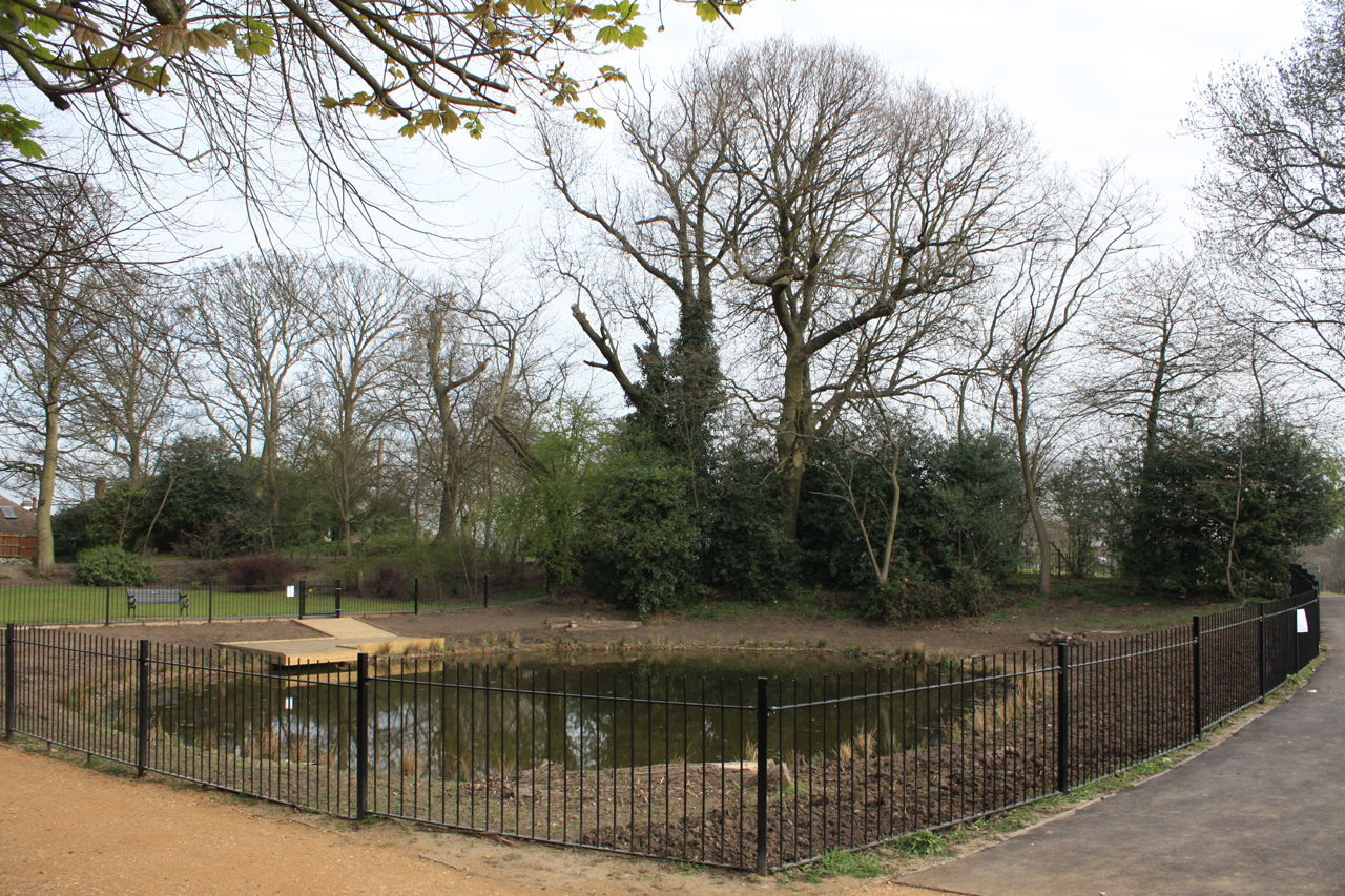 Eaglesfield Park Lilly Pond at the start of April 2012