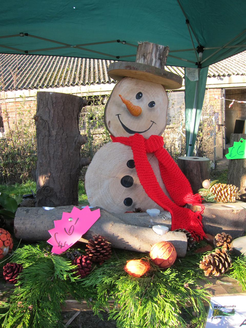 Snowman on the Farm stall