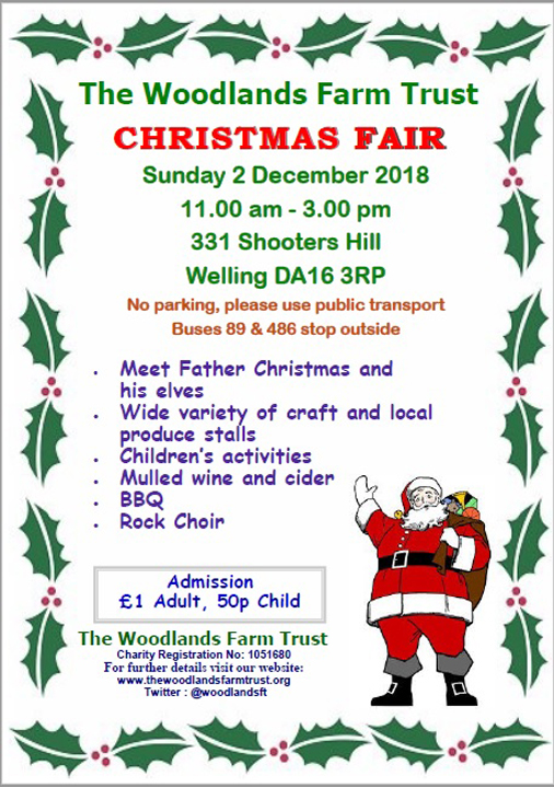 Woodlands Farm Christmas Fair poster