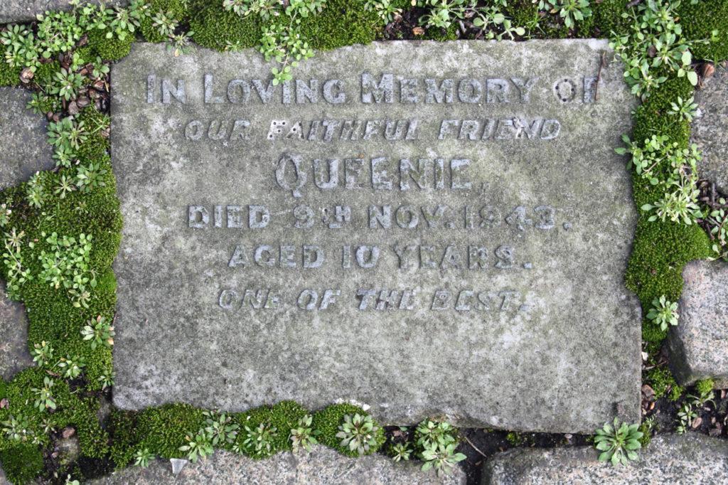 Headstone in the Old Blue Cross Pet Cemetery