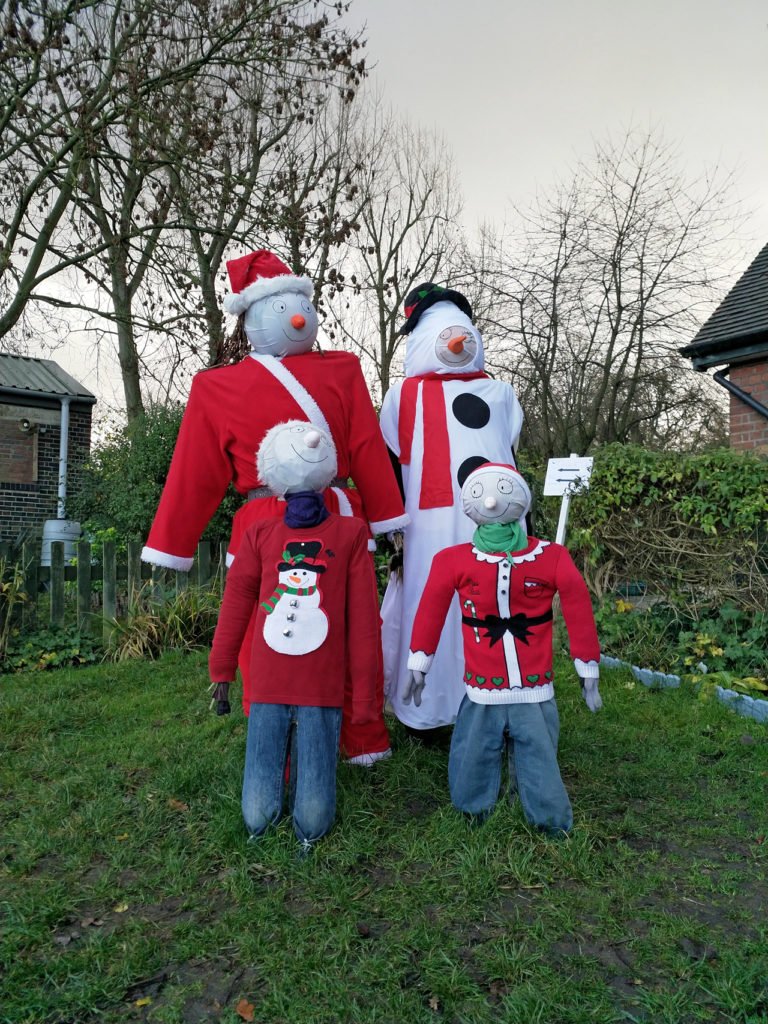 Seasonal scarecrows at Woodlands Farm