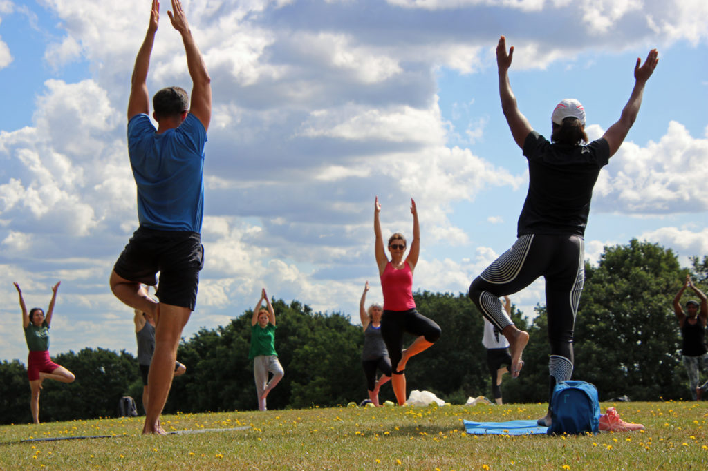 101 Sun Salutations for Greenpeace at Shrewsbury Park